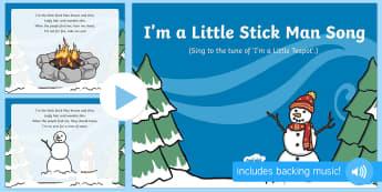 I'm a Little Stick Man Song PowerPoint