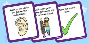 Local Walk Rules Cards - local walk, rules, cards, rules cards