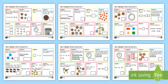 Year 1 Spring 2 Maths Activity Mats - Spring, maths mats, Year 1, add, addition, plus, altogether, sum, greater than, more than, total, fi