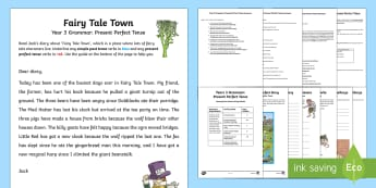 Year 3 Grammar: Present Perfect Tense Learning From Home Activity Booklet - Learning From Home Activity Booklets (KS2), present perfect tense, auxiliary verbs, present perfect,