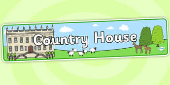 Country House Role Play Banner - country house, country house role play, role play banner, banner, country house banner, display banner