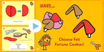Chinese New Year Fortune Cookies Activity Instructions PowerPoint