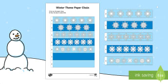 Winter Themed Paper Chain Activity