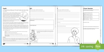 Angels Differentiated Activity Sheets  - Islamic Beliefs; Angels; Malaikah; Jibril