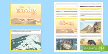Exodus Story Cards  - mose, ten commandments, 10 commandments, moses, egypt, bible, bible stories, religious story, Christ