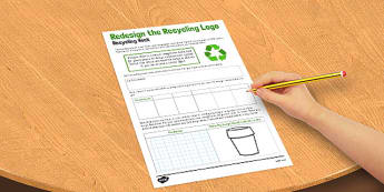 Redesign the Recycle Logo Activity Sheet - recycle, logo, activity, worksheet