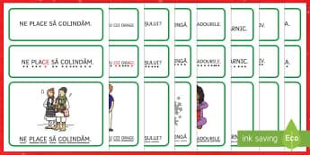 Propoziții simple despre Crăciun - Cartonașe - citire, silabe, craciun, crăciun, română, materiale, fișe, jocuri, cartonașe, cartonase, materi
