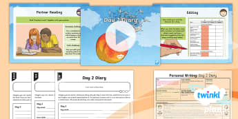 PlanIt Y4 Explorers: James and the Giant Peach Lesson Pack Personal Writing 5 - Explorers: James and the Giant Peach, Diary, 1st person, chronological order, past tense, conjunctio