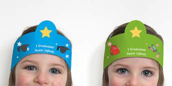 End of Infants Graduation Role-Play Headbands - end of School Year, Infants, Graduation, Headband, Activity, Template,Irish