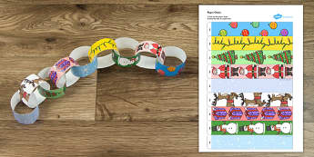 Christmas Themed Paper Chain - activity, activities, crafts