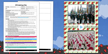 Remembrance Day Crosses EYFS Adult Input Plan and Resource Pack