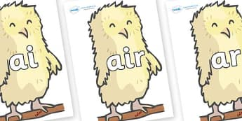 Phase 3 Phonemes on Owl Babies - Phonemes, phoneme, Phase 3, Phase three, Foundation, Literacy, Letters and Sounds, DfES, display