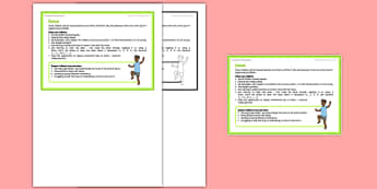Foundation PE (Reception) - Dance Teacher Support Card - EYFS, PE, Physical Development, dance