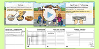 Algorithms Resource Pack - CfE Digital Learning Week (15th May 2017) Digital learning and teaching strategy, computer science,