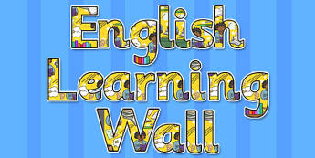 English Learning Wall Title Display Lettering - english, display