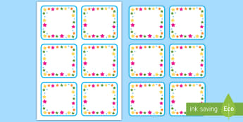 Multicoloured Stars Editable Drawer, Peg, Name Labels - Multicoloured Stars Editable Gratnell Tray Labels - star, labels, stardesign tray labels editable, l