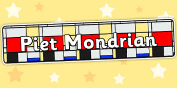 Piet Mondrian Display Banner - piet mondrian, artists, display