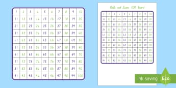 Odds and Evens Hundreds Board - New Zealand, maths, hundreds board, odds and evens, number identification, numbers to 100, 1-100, ag
