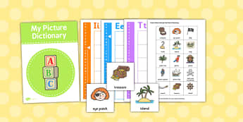 Picture Dictionary Pirates Word Cards - dictionary, pirates