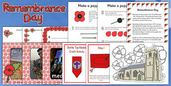 Remembrance Day Activity Pack - remembrance day, activity, pack