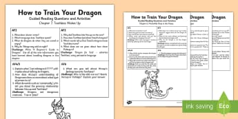 How to Train Your Dragon Guided Reading Pack - guided reading