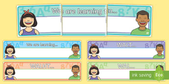 WALT  Display Banner Pack - New Zealand Class Management, learning intention, WALT, WALHT, display