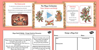 Mayan Civilization Gods Beliefs Lesson Teaching Pack PowerPoint