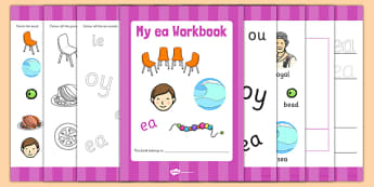 Phase 5 ea Grapheme Workbook - phase five, graphemes, literacy