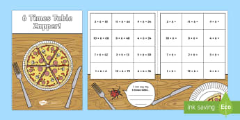 6 Times Table Zapper