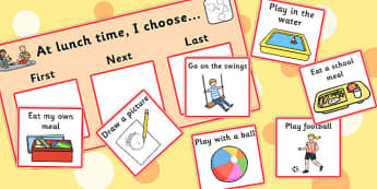 At Lunch Time I Choose Choice Cards - lunch, I choose, cards