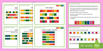 Musical Tubes Level 1 Colour Tune Cards - KS2 music, boomwhackers, boomtubes, boom whackers, boom tubes, tunes, play, perform, notation, nurse
