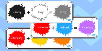 Colour Mixing Pack Polish - art, mixture, shades, paints, display, facts, ks1, key stage 1, ks2, stir, order, pattern, equation, addition, add