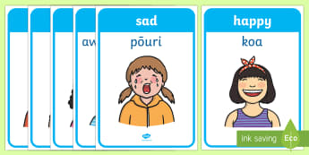 Emotions and Expressions Display Posters Te Reo Maori Translation - New Zealand, Te Reo, Maori, feelings, emotion, feel,