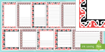 Kowhaiwhai Patterns Page Borders Pack - Maori, patterns, Maori history, family, ridgepole