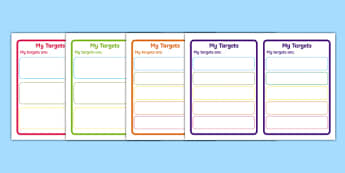 Editable Target/Learning Objective Book Labels - Book label, targets, target, objective, objectives,