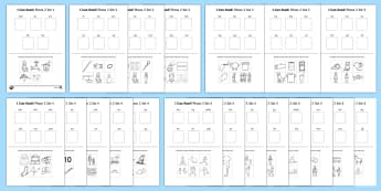 I Can Read Phase 2 Words Activity Sheet Pack - phase 2, activity, worksheet