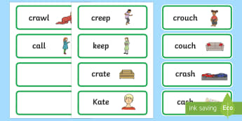 'cr' and 'c' Near Minimal Pair Word Cards - Phonology, articulation, apraxia, dyspraxia, cluster reduction