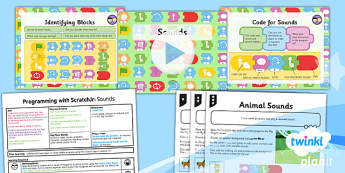 PlanIt - Computing Year 1 - Programming with ScratchJr Lesson 5: Sounds Lesson Pack - code, coding, programming, algorithms