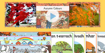 Irish Gaeilge Autumn An Fómhar Resource Pack-Irish