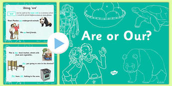 Are or Our? PowerPoint - are, our, homophones, commonly-confused keywords