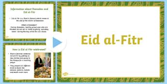 EYFS Eid PowerPoint - religion, islam, muslim, religious studies