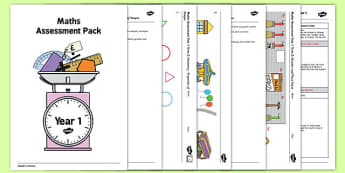 Year 1 Maths Assessment Pack Term 2 - year 1, maths, assessment, pack, term 2