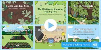 Minibeasts Songs and Rhymes PowerPoints Pack - EYFS, Early Years, Key Stage 1, KS1, songs, music, minibeasts, insects, bugs, creepy crawlies, spide