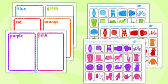 Colour Sorting Activity - colour, sorting, matching, game, puzzle