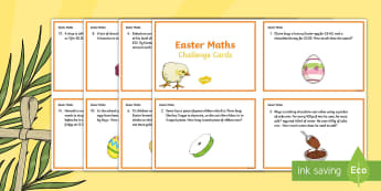 Year 4 Easter Maths Challenge Cards - KS2, Y4, year 4, Easter, maths, challenge cards, Y4 Easter Maths Challenge Cards