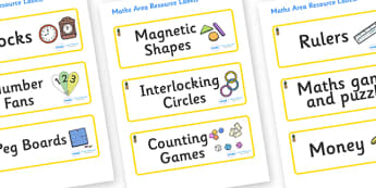 Pineapple Themed Editable Maths Area Resource Labels - Themed maths resource labels, maths area resources, Label template, Resource Label, Name Labels, Editable Labels, Drawer Labels, KS1 Labels, Foundation Labels, Foundation Stage Labels, Teaching L