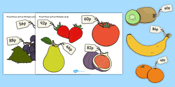 Priced Pieces of Fruit Multiples of 2p - fruit, priced, multiples