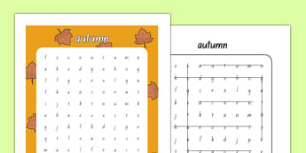 Autumn Word Search