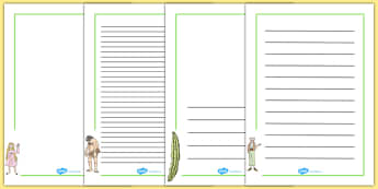 Page Borders to Support Teaching on The BFG - bfg, page borders, borders, page, writing