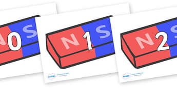 Numbers 0-31 on Magnets (Bar) - 0-31, foundation stage numeracy, Number recognition, Number flashcards, counting, number frieze, Display numbers, number posters
